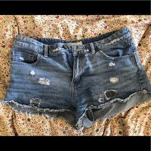 Distressed Free People Denim Shorts